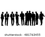 businessman in suit on white... | Shutterstock .eps vector #481763455