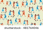 vector seamless background of... | Shutterstock .eps vector #481764046