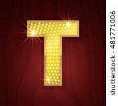 gold light lamp bulb letter t....   Shutterstock .eps vector #481771006