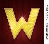 Gold Light Lamp Bulb Letter W....