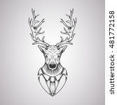 deer head in a graphic style | Shutterstock .eps vector #481772158