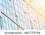 fragment view of glass wall in... | Shutterstock . vector #481779196