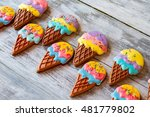 cookies with colorful icing.... | Shutterstock . vector #481779802