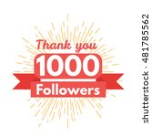 thank you followers | Shutterstock .eps vector #481785562