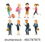 different characters with... | Shutterstock .eps vector #481787875