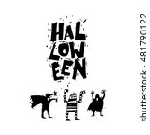 happy halloween poster  banner  ... | Shutterstock .eps vector #481790122