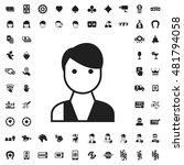 dealer icon illustration... | Shutterstock .eps vector #481794058