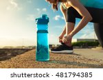 drinking water concept. female... | Shutterstock . vector #481794385