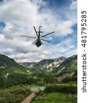 large helicopter flying in the... | Shutterstock . vector #481795285