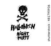 happy halloween poster  banner  ...   Shutterstock .eps vector #481795936