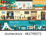 family is forever parents happy ... | Shutterstock .eps vector #481798372