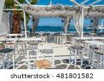 restaurant on the beach in...   Shutterstock . vector #481801582