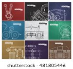 set of backgrounds with... | Shutterstock .eps vector #481805446