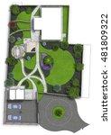landscaping master plan  2d... | Shutterstock . vector #481809322