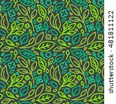 vector seamless pattern and... | Shutterstock .eps vector #481811122