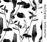imprints meadow flowers and... | Shutterstock . vector #481812106