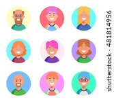 flat design colorful icons... | Shutterstock .eps vector #481814956