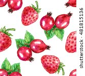 seamless pattern watercolor... | Shutterstock . vector #481815136