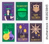 halloween party banners  cards... | Shutterstock .eps vector #481823845