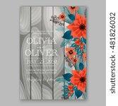 winter floral wreath of... | Shutterstock .eps vector #481826032