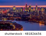 london skyline at sunset ... | Shutterstock . vector #481826656