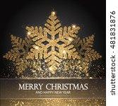 elegant christmas background... | Shutterstock .eps vector #481831876