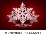 christmas greeting card with... | Shutterstock .eps vector #481832056