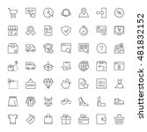 shopping and shipping icons set ... | Shutterstock .eps vector #481832152