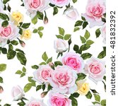 seamless floral pattern with... | Shutterstock .eps vector #481832392