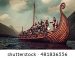 Постер, плакат: Group of vikings are