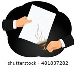 hands of a businessman are... | Shutterstock .eps vector #481837282