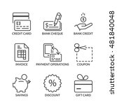 payment methods icons set  thin ... | Shutterstock .eps vector #481840048