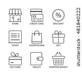 shopping icons set  thin line ... | Shutterstock .eps vector #481840222