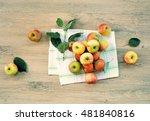 Top View Apple  Organic Food ...