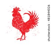 Rooster Red Label. Vintage...