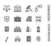 set of black and white law and... | Shutterstock .eps vector #481844842