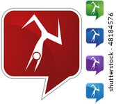 action posing stick figure...   Shutterstock .eps vector #48184576