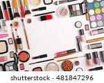 decorative cosmetics  top view | Shutterstock . vector #481847296