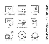 shopping online icons set  thin ... | Shutterstock .eps vector #481853035