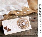 Rustic Wedding Invitation Card...