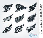 set vintage wings for design... | Shutterstock .eps vector #481855936