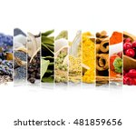 photo of colorful mix stripes... | Shutterstock . vector #481859656