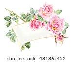 Frame From Roses. Wedding...