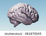 Stock photo brain puzzle d render 481870045