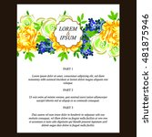 romantic invitation. wedding ... | Shutterstock .eps vector #481875946