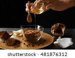 woman preparing homemade scrub   Shutterstock . vector #481876312