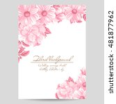 invitation with floral... | Shutterstock .eps vector #481877962