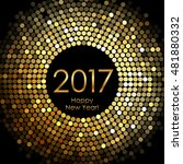 vector   happy new year 2017  ... | Shutterstock .eps vector #481880332