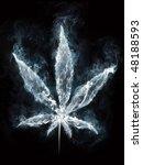 marijuana in smoke on black...   Shutterstock . vector #48188593