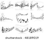 musical designs sets with... | Shutterstock .eps vector #48189019